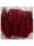 10 шт. Красный цвет. Фазан цветное перо 4-7 см
