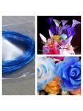8 м. Синий цвет. Цветная проволочка для цветов. № 22