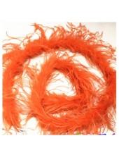 2 м. Оранжевый цвет. Шарф из перьев страуса 2 нити
