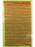 1 шт. Красный цвет.  Наклейки со стразами 3 мм. 8 х 13 см.