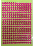 1 шт. Фуксия цвет. Наклейки со стразами 6 мм. 9 х 13 см.