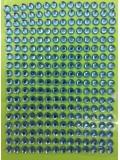 1 шт. Голубой цвет. Наклейки со стразами 6 мм. 9 х 13 см.