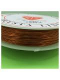 0.5 мм. 25 м. Оранжевый цвет. Проволочка для рукоделия