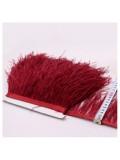 1 м. Бордо цвет. Тесьма из перьев страуса 10- 15 см