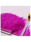 1 м. Фуксия цвет. Тесьма из перьев страуса 10- 15 см