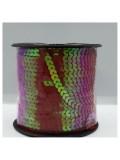 6 мм. 1 м. Розово-красный хамелеон цвет. Пайетки нить