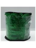 6 мм. 1 м. Зеленый хамелеон цвет. Пайетки нить