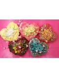 Сердечко с цветами. Фигурное мыло ручной работы. № 2