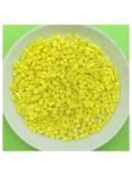 450 гр. Желтый матовый цвет. Стеклярус. № 9