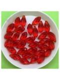 50 шт. Красный цвет. Бусинки стеклярус 6х12 мм. Р-35 № 21