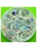 20 шт. Прозрачный хамелеон цвет. Бусинки стеклярус с огранкой 15х15 мм