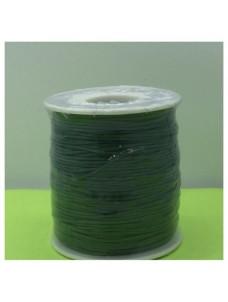 1 мм. Зеленый цвет. Вощенный хлопковый шнур. 100 м