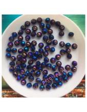 150 шт. Синий хамелеон цвет. Бусинки круглые с огранкой стеклярус. 4 мм. № 27