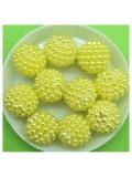 16 мм. 50 гр. Желтый цвет. Шамбала бусинки № 4