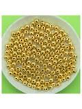 50 гр. Золото цвет. Цветные бусинки 4 мм. Круглые. Пришивные. № 1