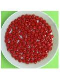 4 мм. 150 шт. Красный матовый цвет. Бусинки круглые с огранкой стеклярус № 24