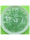 4 мм. 100 шт. Салатовый хамелеон цвет. Бусинки ромбы № 6