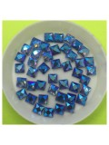 50 х 50 мм. Синий хамелеон цвет. Стразы клеевые 50 шт. № 10