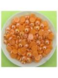 № 6. Оранжевый хамелеон цвет. Бусинки клеевые 250 шт. № 7