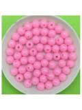 50 гр. Розовый цвет. Цветные бусинки 6 мм. Круглые. Пришивные. № 3