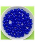 50 гр. Синий цвет. Цветные бусинки 6 мм. Круглые. Пришивные. № 6