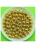 50 гр. Золото цвет. Цветные бусинки 6 мм. Круглые. Пришивные. № 8