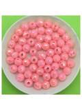 50 гр. Розовый цвет. Бусинки хамелеон грань 6 мм. Пришивные  № 2
