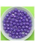 50 гр. Фиолетовый цвет. Бусинки хамелеон грань 6 мм. Пришивные  № 4