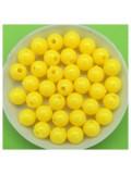 50 гр. Желтый цвет. Цветные бусинки 8 мм. Круглые. Пришивные. № 2