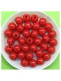 50 гр. Красный цвет. Цветные бусинки 8 мм. Круглые. Пришивные. № 4