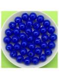 50 гр. Синий цвет. Цветные бусинки 8 мм. Круглые. Пришивные. № 7