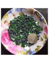 100 шт. 6 мм. Зеленый цвет. Стразы клеевые № 20