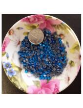 100 шт. 4 мм. Синий цвет. Стразы клеевые № 16
