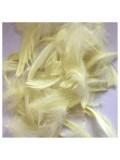 100 шт Лимонный цвет. Гусиное перо 4-9 см. Плавающее