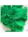 100 шт. Зеленый цвет. Гусиное перо 4-9 см. Плавающее