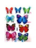 Микс цвет. Бабочки на палочке 5 см в цветы