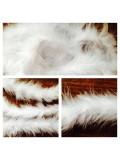 Белый цвет. Боа тесьма из пуха марабу 4-5 см