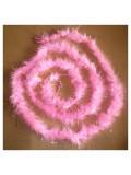 Розовый цвет. Боа тесьма из пуха марабу 4-5 см. С золотинкой