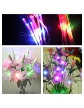 1 метр.  Мульти цвет. Гирлянда светодиоды для  цветов