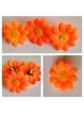 3115. Оранжевый цвет. Ромашки 4 см