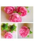 1515. Розовый цвет.. Цветные головки роз 4 см