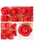 1919. Красный цвет. Цветные головки роз 3 см
