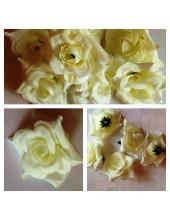 357. Белый цвет. Розы головки. Искусственные цветы