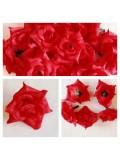 357. Красный цвет. Розы головки. Искусственные цветы