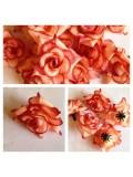 357. Бежевый цвет. Розы головки. Искусственные цветы