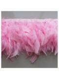 1 м. Розовый цвет. тесьма из плавающих перьев 8-12 см