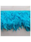 1 м. Голубой цвет. тесьма из плавающих перьев 8-12 см