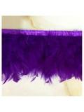 1 м. Фиолетовый цвет. тесьма из плавающих перьев 8-12 см