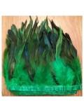 1 м. 2-х цветное. Зеленый цвет. Перья петуха на ленте 14-19 см