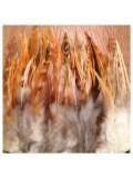 1 м. Микс цвет. Тесьма из перьев 14-19 см